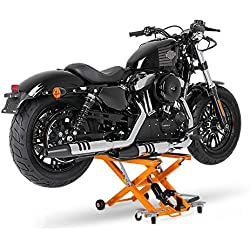 Bequille d'Atelier Cric Moto Hydraulique Lift ConStands XL orange pour Yamaha XVS 650/1100 A Drag Star Classic, XVS 125/250/650/1100 Drag Star, XVZ 1300 A Royal Star, YBR 125/Custom, XV 950, R