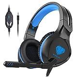 Gaming Headset, Xbox One Headset Geräuschunterdrückung Kopfhörer Mikrofon Over Ear Gaming Headset PS4, Nintendo Switch, Tablet, PC, Laptop, Handy