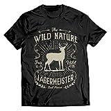 1 Stück T-Shirt Vintage Jägermeister Geschenk Jag Geschenk Geburtstag Schwarz (XL)
