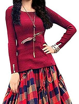 VN fashion's Women's Banglori Satin Semi-stitched Long Skirt and Top (Red, Free Size)