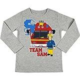 Feuerwehrmann Sam Kinder Langarm-Shirt Team Sam, Gr. 98/104