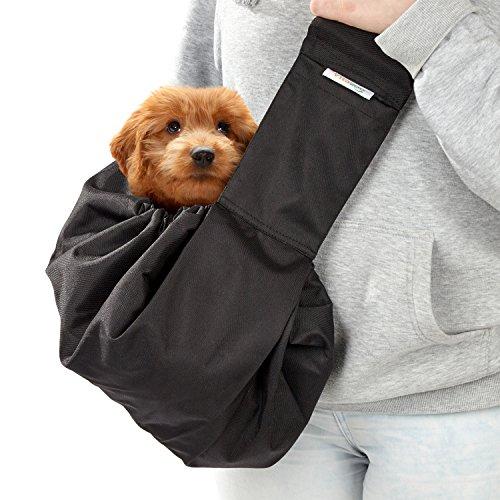 Vitazoo trasportino per cani , regolabile, lavabile, carico massimo di 15 kg | con 2 anni di garanzia di soddisfazione | borsa a tracolla con comoda spallina, trasportino per cane, animali domestici, gatti, borsa per il trasporto, zaino per cani, borsa per cani, borsa monospalla