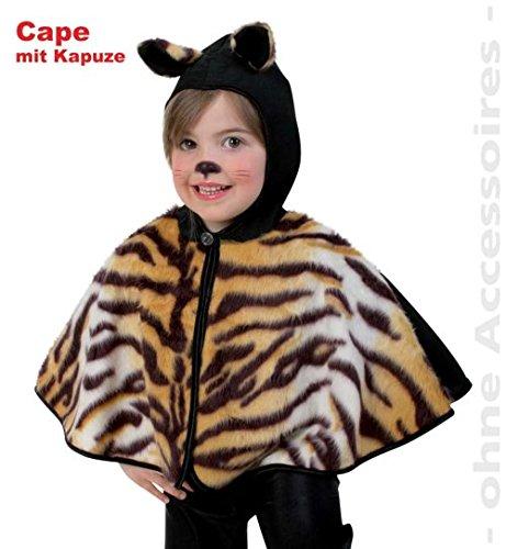 Cape Tiger Tisha Umhang Katze mit Kapuze Kinder -