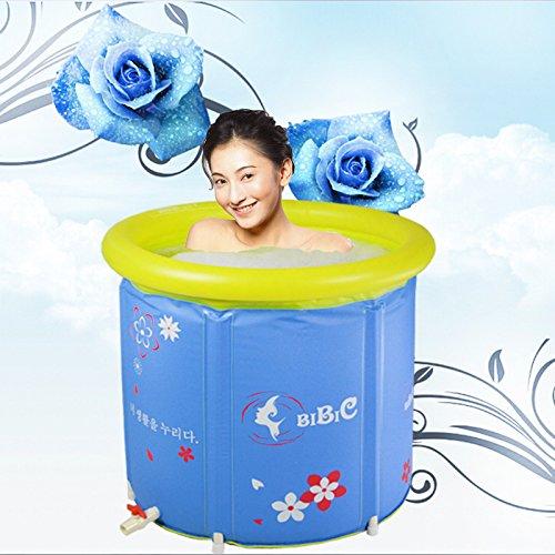 CLG-FLY Aufblasbare nach falten Sauna Wellness aufblasbare Badewanne Whirlpool Whirlpool Wanne, Blau, 65 * 70 (s)