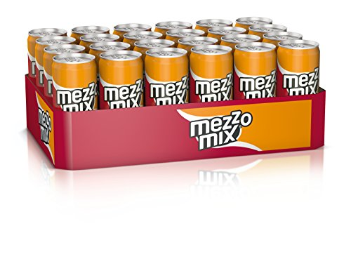 Mezzo Mix, Einzigartiges Mischgetränk aus Cola & Orange in stylischen Dosen, EINWEG Dose (24 x 330 ml)