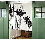 Vorhänge Pflanzen Schönheit Vorhänge Schatten Wind Baumwolle Trennvorhänge Badezimmer Garderobe Dekoration Ohne Teleskopstange,A-85*120CM