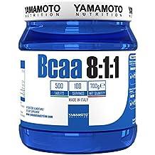Yamamoto Nutrition Bcaa 8:1:1 integratore alimentare di aminoacidi a catena ramificata con vitamine B1 e B6 500 compresse