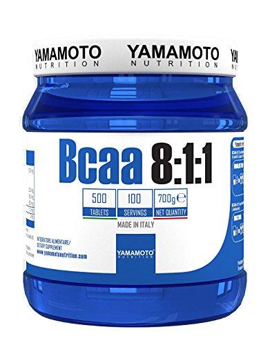 Yamamoto Nutrition BCAA 8:1:1 Suplemento Dietético de Aminoácidos - 500 Tabletas