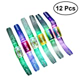 BESTOYARD Blinkt Armband Armband Leuchtende Hand Ring LED Armband Festival Geburtstag Party Requisiten Halloween Weihnachtsfeier Zubehör 12 STÜCKE (Gelegentliche Farbe)