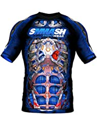 Rashguard SMMASH SKULL FIGHT MACHINE ELECTRIC MMA BJJ UFC S M L XL XXL XXXL (M)