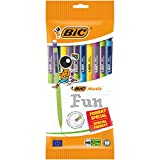 BIC 951478 Matic Combos Lot de 10 Porte-mines 0,7 mm Couleurs Assorties