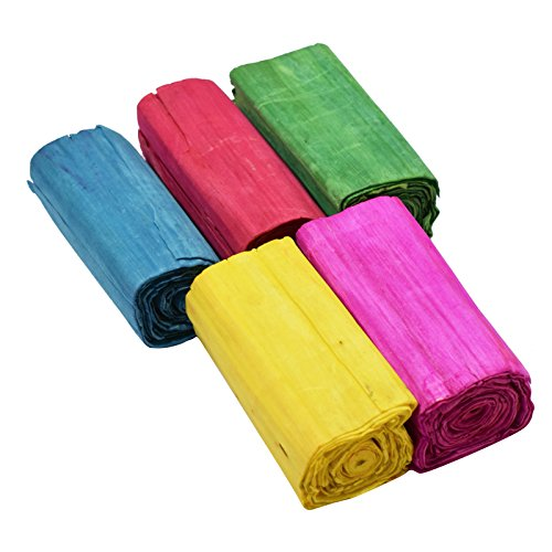 AsianhobbyCrafts Sola Wood Paper : Set of 5 Rolls : MultiColor : For Flower Making & Other Craft Work