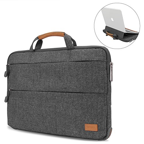 13-13.3 Inch Laptop Sleeve Case Cover with Stand Function for Macbook Air/Macbook Pro/Pro Retina, EKOOS Protective Bag Carrying Case Briefcases for Surface Laptop 2017,12.9 Inch iPad Pro 2017
