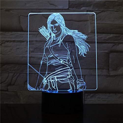 Klsoo Usb 3D Led Nachtlichter Jungen Kind Kinder Baby Geschenke Dekorative Lichter The Hunger Games Tischlampe Nachttisch