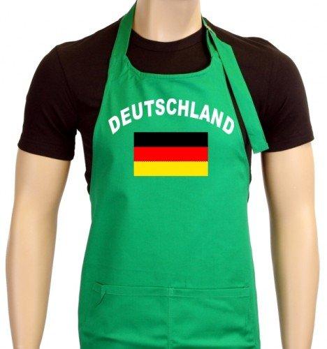 Coole Fun T-Shirts Uni Tablier de barbecue Em 2012 Allemagne Drapeau, One Size Taille unique vert