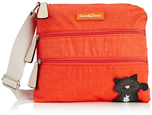 SwankySwans NM696 - Bolso bandolera de Sintético Mujer, color Naranja, talla Talla única