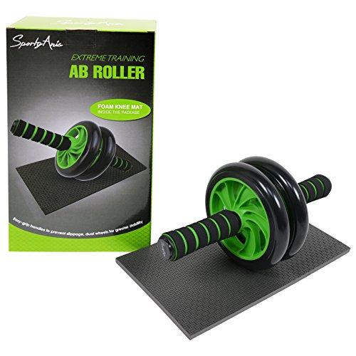 SportyAnis® Bauch-Trainer / Ab-Roller mit Knieauflage AB-Bauchtrainer Bauchtrainer-Rad Sixpack-Trainer Ab-Wheel Bauchtrainer-Gerät Bauchmuskel-Trainer