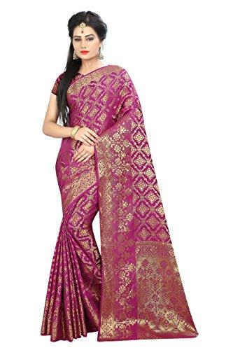 Kalapy Fashion Women's Banarasi Silk Saree (Patola)