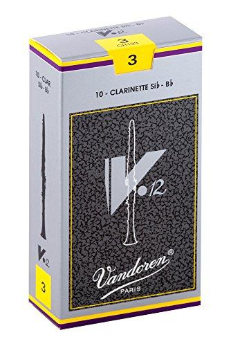 Vandoren CR193 V.12 Blätter für Bb-Klarinette (Stärke 3, 10 Stück)