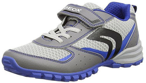 Geox Jr Wild Jungen Low-Top Grau (GREY/LT BLUEC0415)