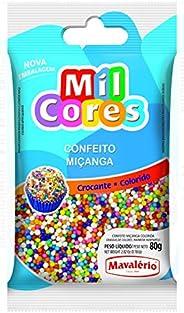 Mavalerio Mil Cores, Rainbow Nonpareil Food Decorative, Multi-Colored Sprinkles Bakery, for Cake and Ice Cream