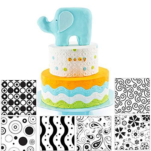 Fyuan Hoja de textura de plástico moderno Fondant Set herramienta de bricolaje para decorar galletas...