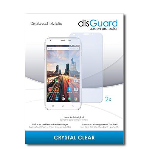 disGuard Protecteur d'écran [Crystal-Clear] Compatible avec Archos 55 Helium+ [2 Pièces] Limpide, Transparent, Invisible, Extrêmement résistant, Anti-Empreinte Digitale - Film Protecteur
