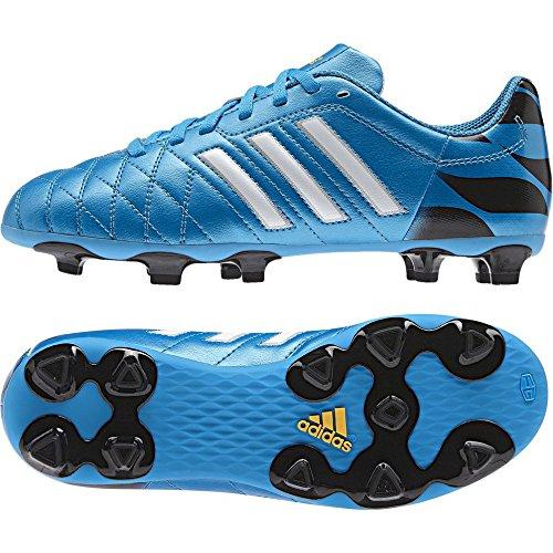 scarpe da calcio ADIDAS 11 QUESTRA FG JUNIOR (37 1/3, AZZURRO)