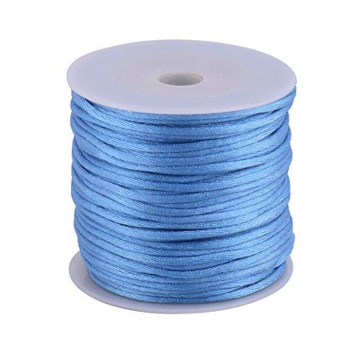 sourcingmap® Nylon Handwerk DIY Stricken Kette Puppe Anhänger Schnur Blau 2 mm Dmr. 49 Yards