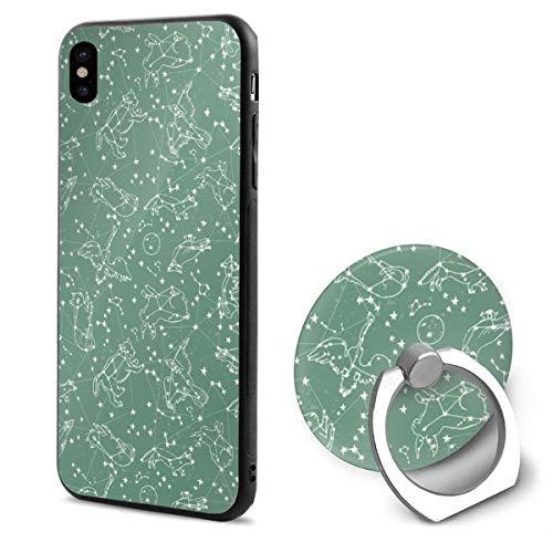 iPhone XR Ring bracket Case SMALL - Cosntellations Night Time Sky Animals Animals Nursery Baby Kids Print TPU Bumper Protective Case for Apple iPhone XR 6.1 Inch 2018 Release Crystal Lace Design (Animal-print Warmers)