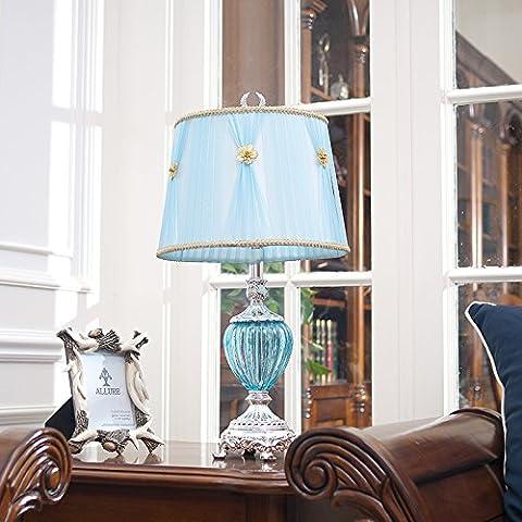 YUENLONG Estilo europeo zinc aleación lámpara de noche dormitorio salón decoración del hogar mesa lámpara 69.5cm* ancho 35cm