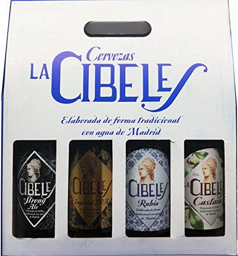 Cesta Degustación Cervezas La Cibeles - 4 Tercios Variados