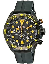 Nautec No Limit Herren-Armbanduhr XL Ocean Breeze Chronograph Quarz Kautschuk NNL-OCBR-QZ-RBIPBKIPBK-YL