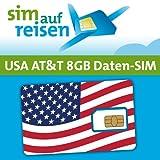 AT&T USA Prepaid Daten-Sim-Karte mit 8 GB aktiviert zum Wunschtermin durch sim-auf-reisen (Nano)