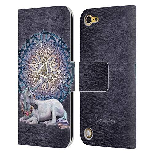Head case designs ufficiale brigid ashwood unicorno celtico cover in pelle a portafoglio compatibile con ipod touch 5g 5th gen