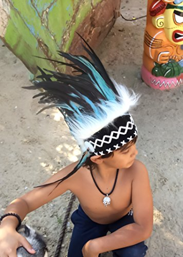 Federhaube Indianer, Kinder Federhaube By Jerome Collection Karneval, Fotoshooting, Dekoration Kopfschmuck coiffe indienne Real Feather war bonnet Headdress Chief War bonnet Real Feathers Indian Headdress Little Big Horn (Kostüme Chief Erwachsenen Indian)