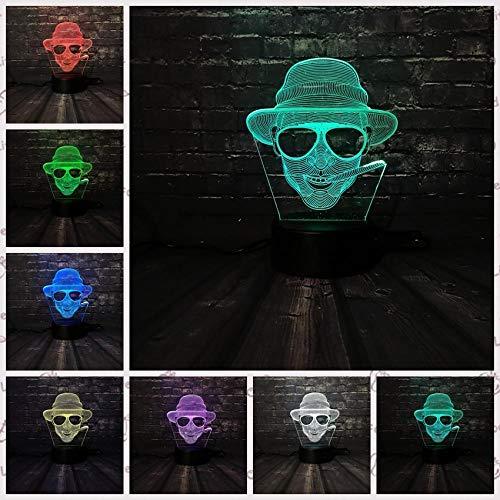 SanQ-Seven Led nachtlicht cool Man Sonnenbrille Junge Dekoration Lampe Schlafzimmer Schlaf licht 7 Farbwechsel Kid Boy Geschenk Spielzeug