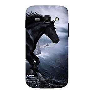 Delighted Premier Black Horse Back Case Cover for Galaxy Ace 3