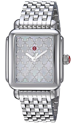MICHELE Women's Swiss Quartz Stainless Steel Casual Watch, Color:Silver-Toned (Model: MWW06T000175)