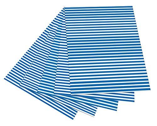 n mit Streifen, 50 x 70 cm, 10 Bogen, blau/weiß (Blau Bögen)