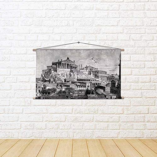 ArtzFolio Victorian Art of of Art Reconstruction of Ancient Rome City Silk Painting Tapestry Wall Hanging 38.3 X 20.9Inch a18f23