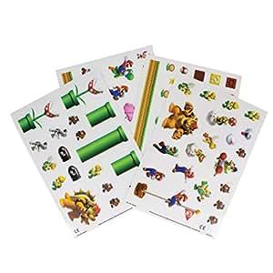 Super Mario Gadget Decals, Vinyl, Multi-Colour, 0.3 x 14.8 x 21 cm