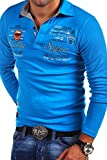 MT Styles Langarm Poloshirt EXCURSION T-Shirt R-0657 [Türkis, XL]