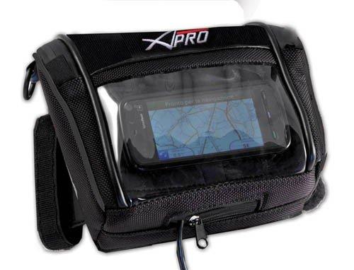 A-Pro GPS impermeabile navihalter Borsa Navigation sanguigna Moto Nero
