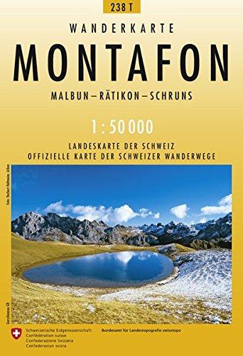 238T Montafon Wanderkarte: Malbun - Rätikon - Schruns (Wanderkarten 1:50 000)