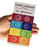 My Bekräftigungen Chakra Magnetische Lesezeichen (Englisch Version) Premium Qualität–Ihre Essential Guide für Entfaltung & Manifestation, Taschengröße, Educational, Informative (2,7x 4cm gefaltet Größe, 8Stück)