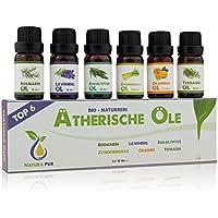 Natura Pur Ätherische Öle Set - 100% Bio naturrein - Duftöle Aromaöle für Diffuser und Aromatherapie, 6 x 10ml... preisvergleich bei billige-tabletten.eu