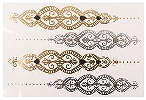 Sheebani Sheet no. 4 de POSH TATTOO ||| Metallic Tattoo | Flash Tattoos | La nueva moda de Hollywood de SveJona