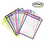 YIY - Paquete de 10 Fundas de borrado en seco para láminas de...