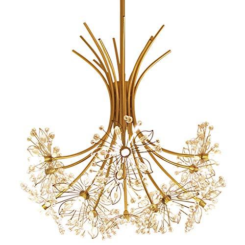 eeisen Kristall Kronleuchter Moderne Gold Bouquet Look Luxuriöse und elegante kreative Atmosphäre Lampe for Restaurant Family Hotel ()